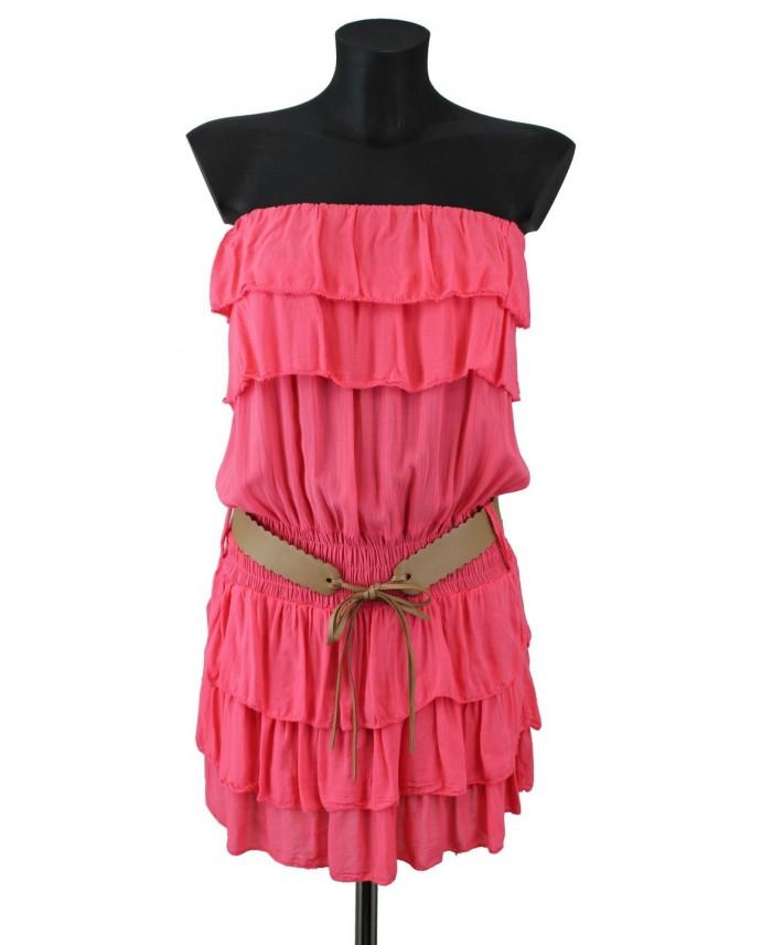 Robe froufrous f2996 grossiste robe et grossiste en ligne vetement femme - Pret a porter femme en ligne ...
