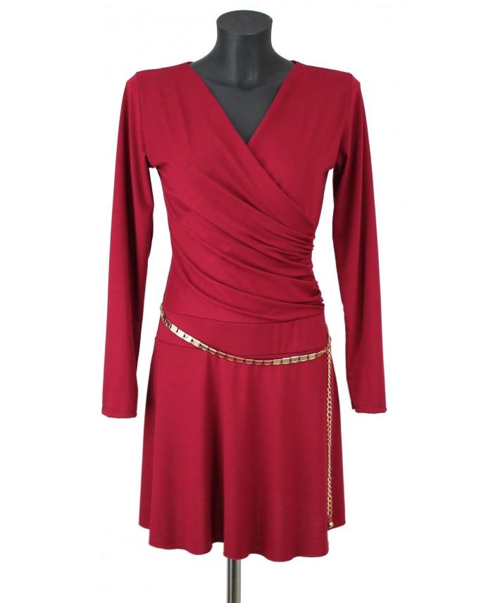 robe tunique encolure drap e f3171 grossiste vetement femme. Black Bedroom Furniture Sets. Home Design Ideas
