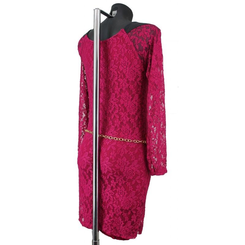 robe tunique tout en dentelle simili cuir a8105 propos 233 e par votre grossiste pret a porter