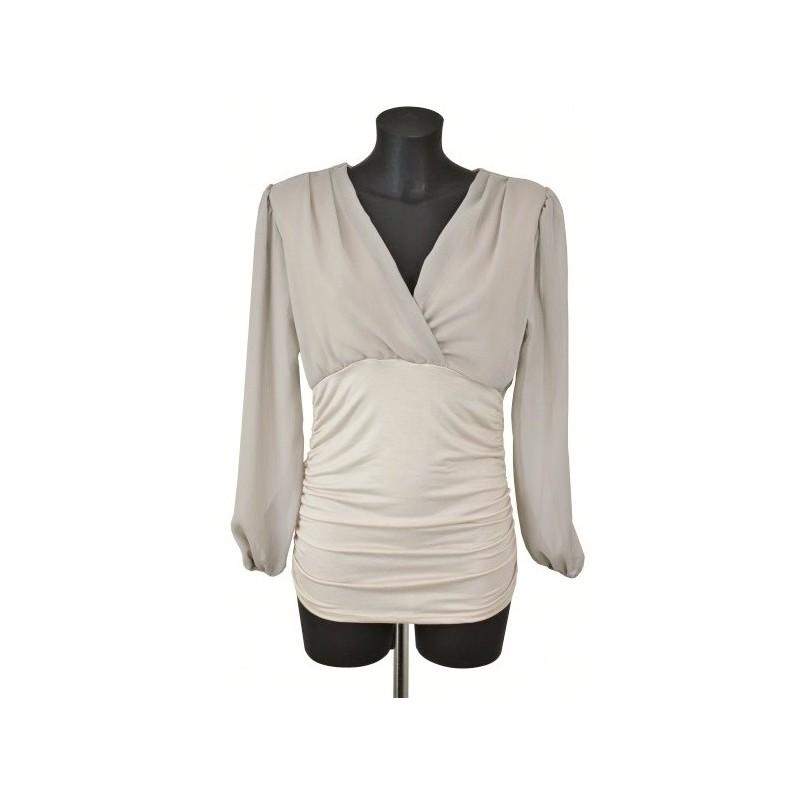 blouse voile f3162 grossiste pret a porter