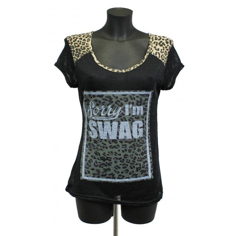 t shirt imprime fashion a8229n grossiste pret a porter. Black Bedroom Furniture Sets. Home Design Ideas