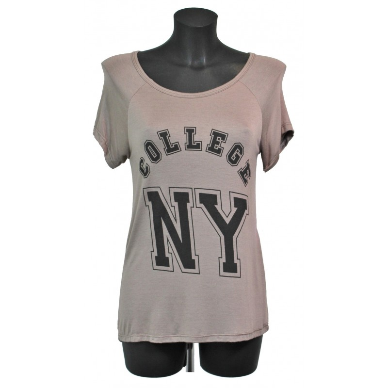 t shirt imprime fashion a8203 grossiste pret a porter. Black Bedroom Furniture Sets. Home Design Ideas