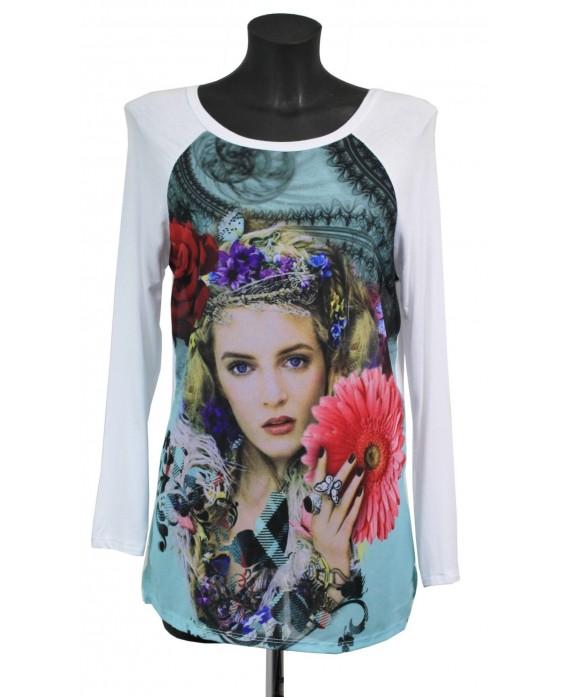 T shirt imprime fashion a8209 grossiste pret a porter for Cos pret a porter en ligne