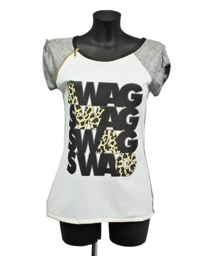 t shirt imprime fashion a8235 grossiste pret a porter. Black Bedroom Furniture Sets. Home Design Ideas