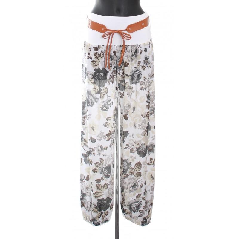 Pantalon fluide avec ceinture a 8255 grossiste pret a porter en ligne - Pret a porter femme pas cher en ligne ...