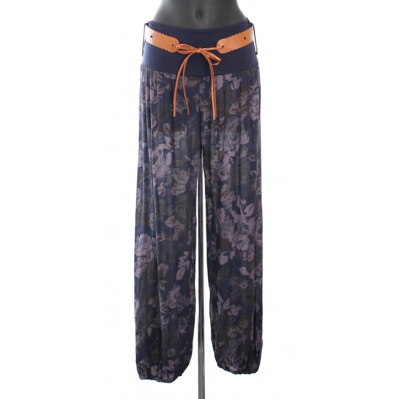 Pantalon fluide avec ceinture a 8255 grossiste pret a - Pret a porter femme pas cher en ligne ...