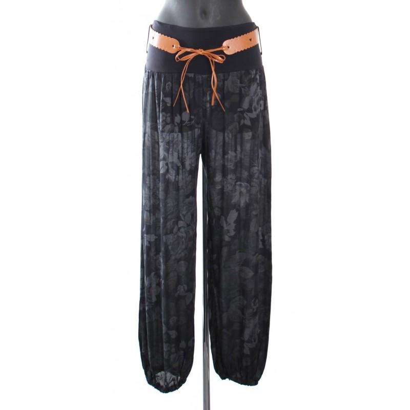 Pantalon fluide avec ceinture a8255n grossiste pret a porter en ligne - Pret a porter femme pas cher en ligne ...