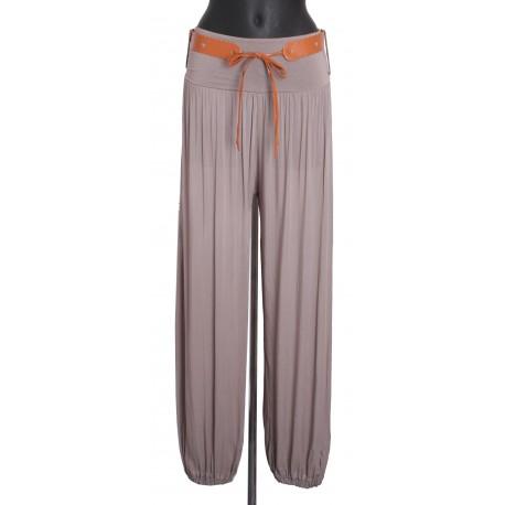 Pantalon fluide avec ceinture a8259n grossiste pret a - Pret a porter femme pas cher en ligne ...