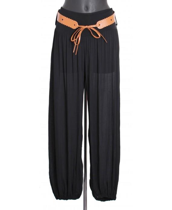 Pantalon fluide avec ceinture a8259 grossiste pret a porter en ligne - Pret a porter femme pas cher en ligne ...