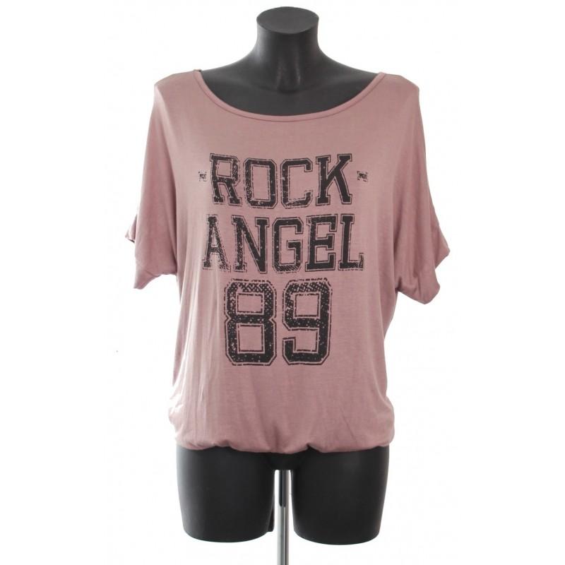 t shirt rock angel 89 a8265t grossiste pret a porter. Black Bedroom Furniture Sets. Home Design Ideas