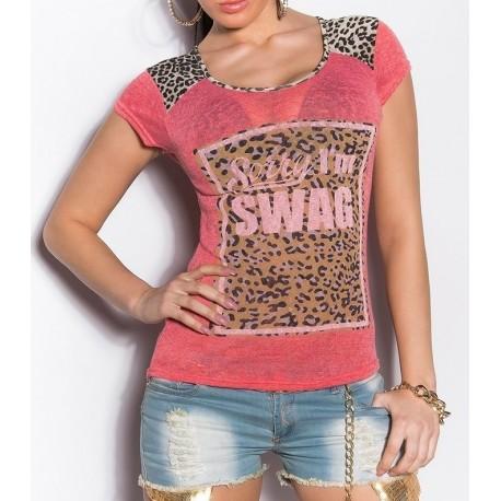 T shirt imprime fashion a8229 grossiste pret a porter - Pret a porter femme en ligne ...
