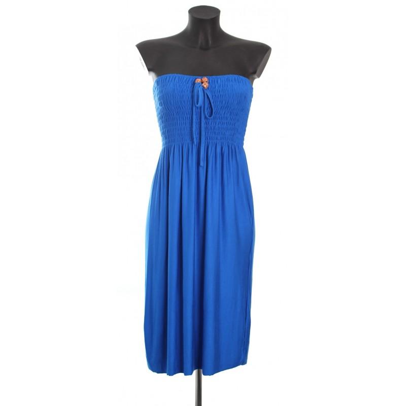 robe bustier bleu royal a8362 grossiste pret a. Black Bedroom Furniture Sets. Home Design Ideas