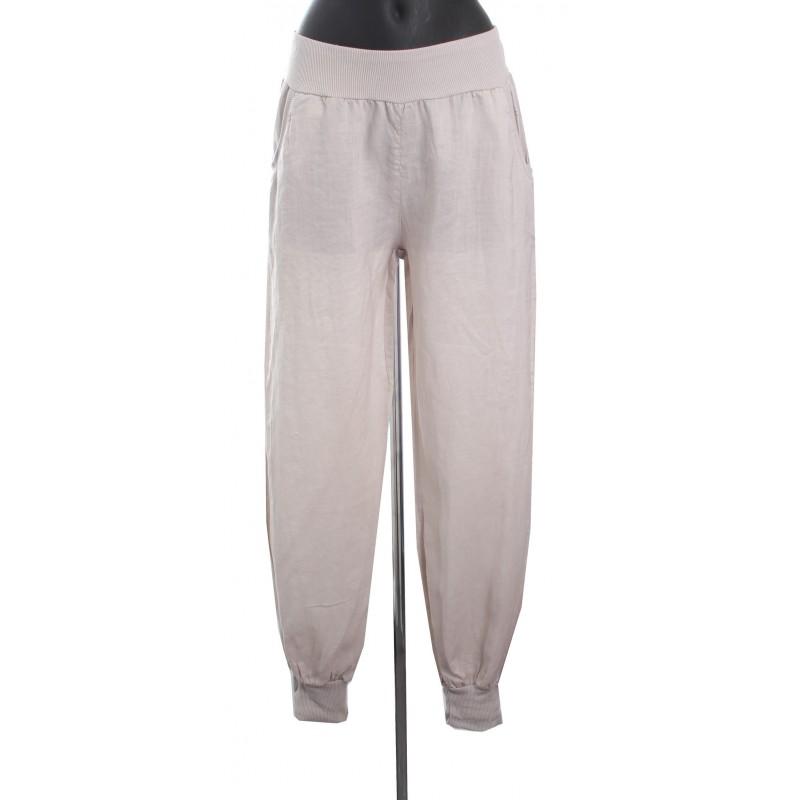 pantalon en lin a8514 grossiste pret a. Black Bedroom Furniture Sets. Home Design Ideas