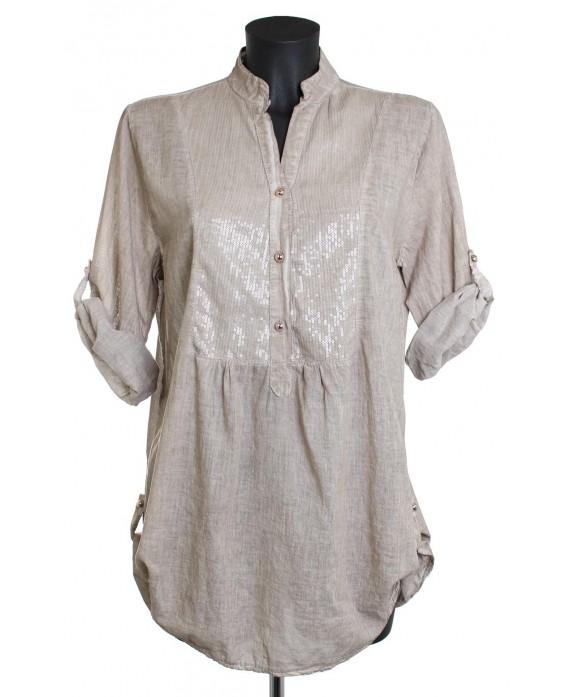 grossiste chemise sequins italie ah1444. Black Bedroom Furniture Sets. Home Design Ideas