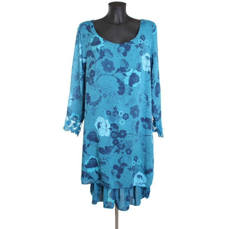 grossiste robe tunique grande taille imprimee italie ah1455. Black Bedroom Furniture Sets. Home Design Ideas