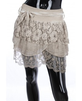 SKIRT SILK BEIGE 1873