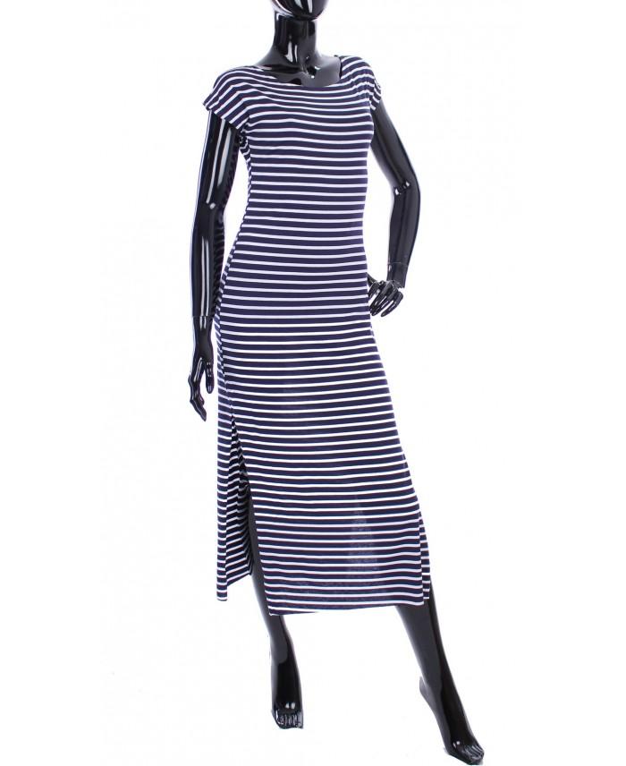 robe longue rayee marine 1997 grossiste pret a. Black Bedroom Furniture Sets. Home Design Ideas