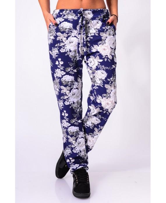 pantalon fleurs 5302 grossiste pret a. Black Bedroom Furniture Sets. Home Design Ideas