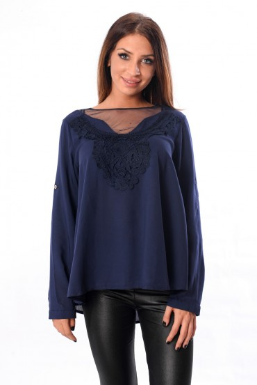 BLOUSE - NAVY 1029