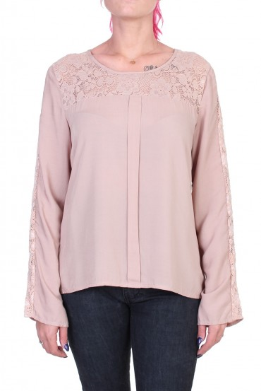 BLOUSE DENTELLE TAUPE 1048 x 2