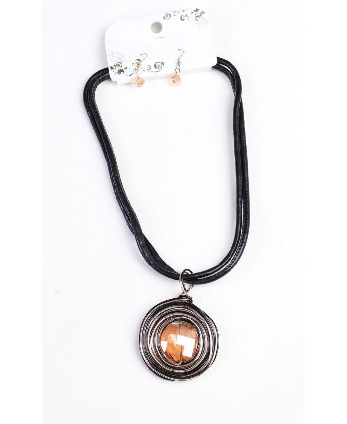 collier boucles d 39 oreilles 160036br grossiste pret a. Black Bedroom Furniture Sets. Home Design Ideas