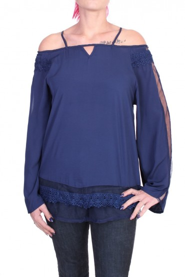BLOUSE LACE NAVY 1016 x 2