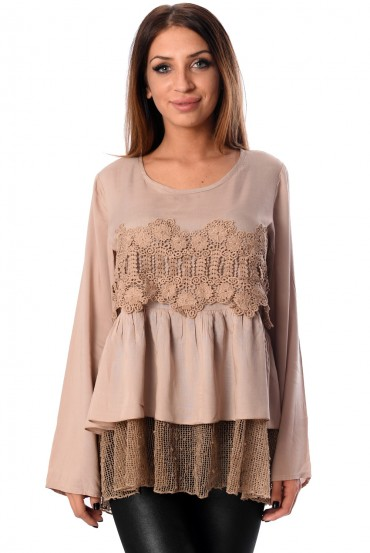TUNIC LACE TAUPE 1012