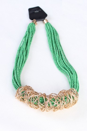 NECKLACE GREEN 160088