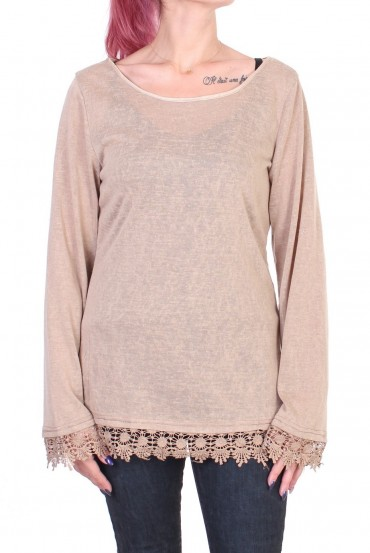 PULL LACE BEIGE S01