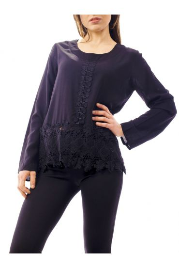 BLOUSE LACE BLACK 1068
