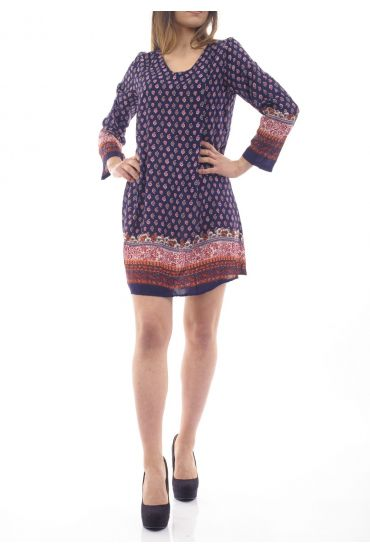 PRINTED DRESS / TUNIC 1090I4BL