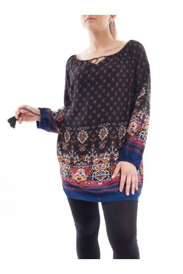 PRINTED TUNIC SIZE PLUS 1083I3NO