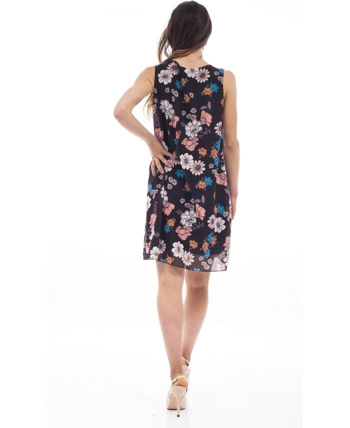 robe imprime fleurs s9219 grossiste pret a. Black Bedroom Furniture Sets. Home Design Ideas