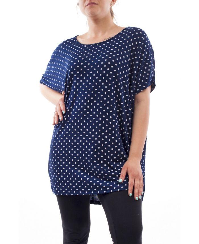 grande taille t shirt imprime gt1089 marine grossiste pret a. Black Bedroom Furniture Sets. Home Design Ideas