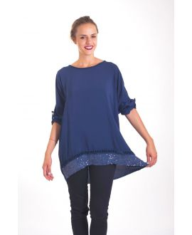 TUNIC SEQUINS 4022 BLUE