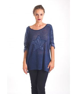 T-SHIRT STAR SEQUIN 4019 BLUE