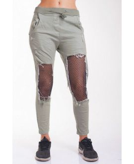 JEANS PANTS DESTROY 4023 MILITARY GREEN