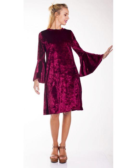 robe velour 4235 rouge grossiste pret a. Black Bedroom Furniture Sets. Home Design Ideas