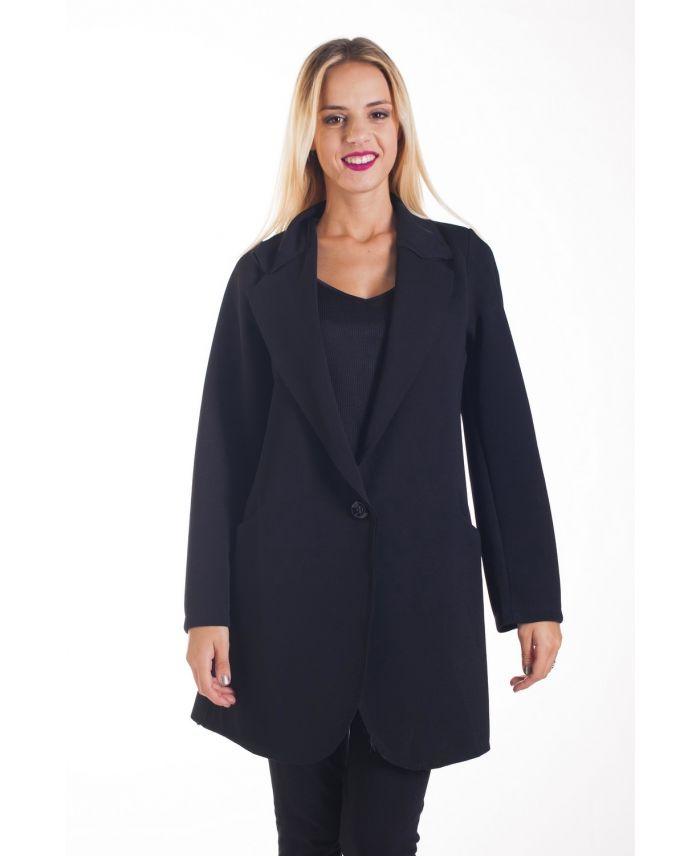 jacket blazer long oversize 4276 black grossiste pret a. Black Bedroom Furniture Sets. Home Design Ideas