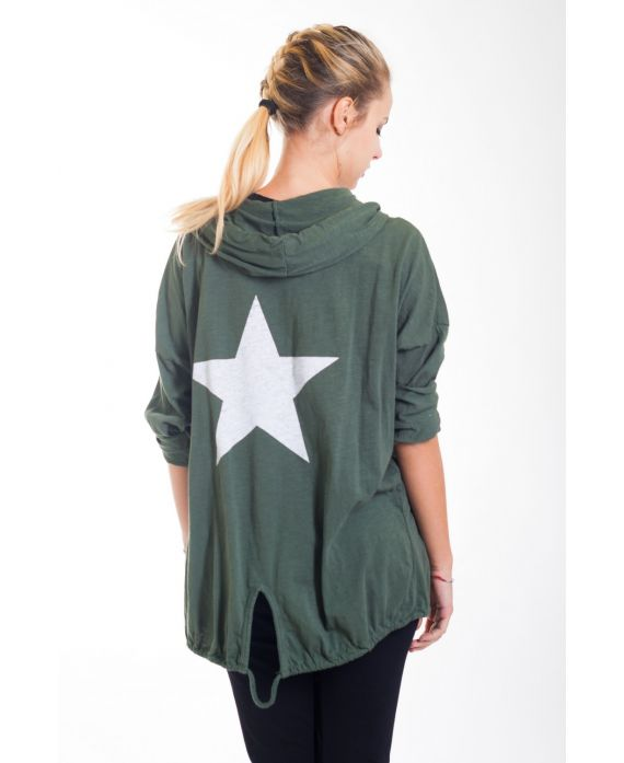 BACK VEST STAR 4421 MILITARY GREEN