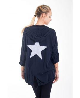 BACK VEST STAR 4421 BLACK