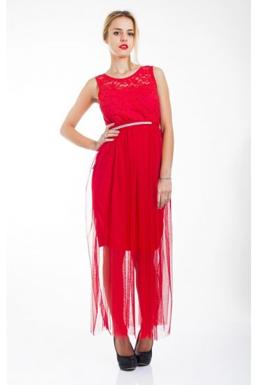 EVENING DRESS 4439 RED