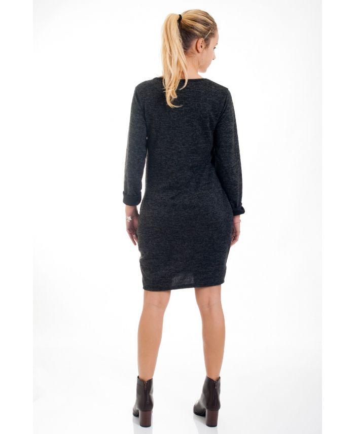 pull robe imprime femme 4530 noir grossiste pret a. Black Bedroom Furniture Sets. Home Design Ideas
