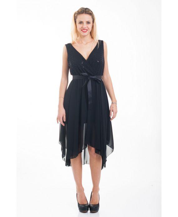 Robe de soiree 4556 noir grossiste pret a - Robes americaines pret a porter ...