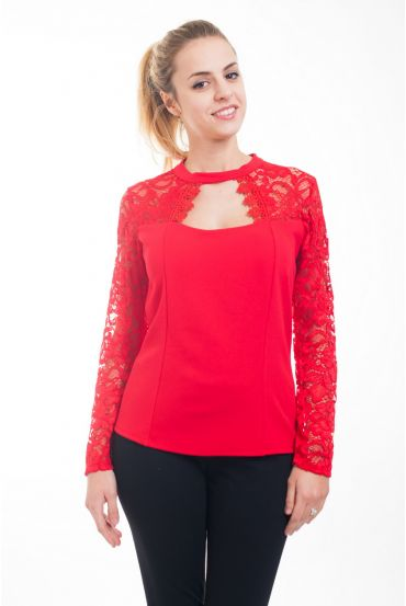 TOP SOIREE LACE 4615 RED
