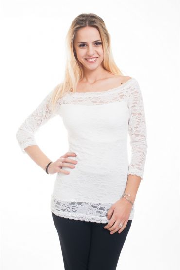 LACE TOP 4618 WHITE