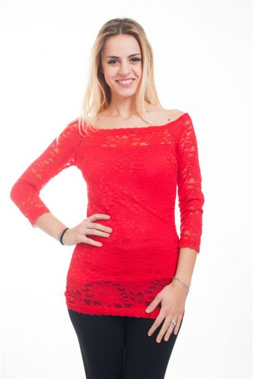 TOP IN PIZZO 4618 ROSSO