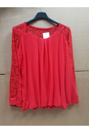 BLOUSE EMPIECEMENT LACE 4539 RED