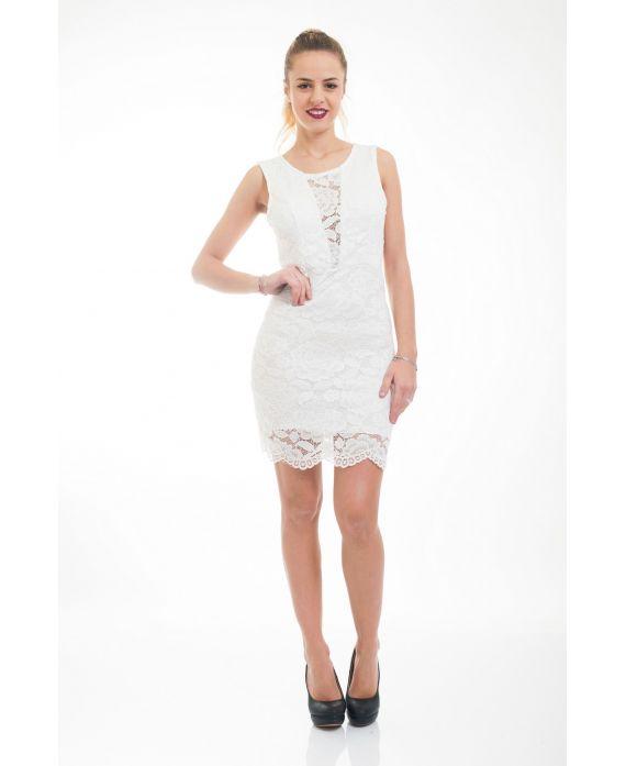 Pre commande robe dentelle 5044 blanc grossiste pret a for Pre a porter