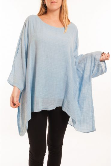 LARGE SIZE TUNIC ASYMMETRIC COVER 5059 BLUE